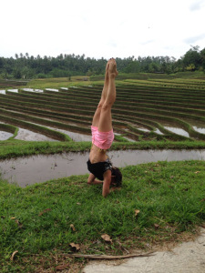 Ricefield forearm stand